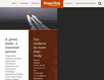 Main page screenshot of oregonstate.edu