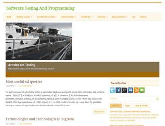 articlesontesting.com screenshot