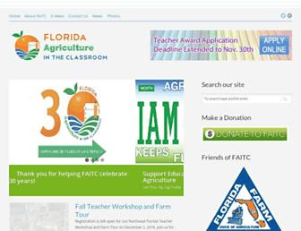 Main page screenshot of faitc.org