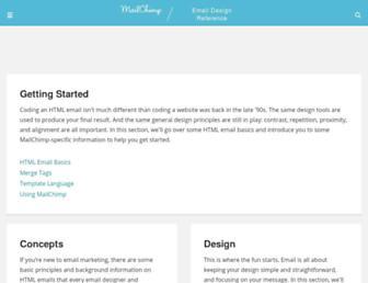 templates.mailchimp.com screenshot