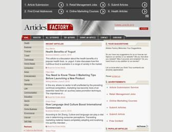 Thumbshot of Articlesfactory.com