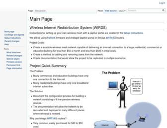 Main page screenshot of wirds.net