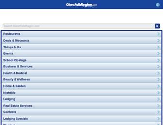 m.glensfallsregion.com screenshot