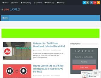 ipeeworld.com screenshot