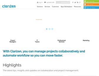 clarizen.com screenshot