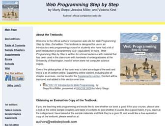 webstepbook.com screenshot