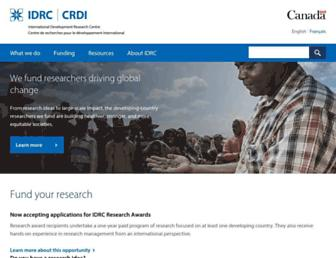 idrc.ca screenshot