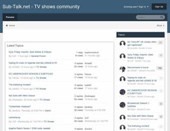 sub-talk.net screenshot