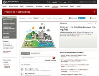 projects.bancomundial.org screenshot