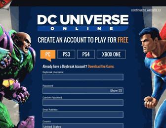 dcuniverseonline.com screenshot