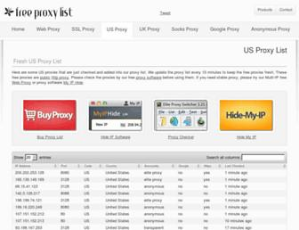 us-proxy.org screenshot