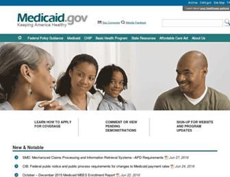 medicaid.gov screenshot