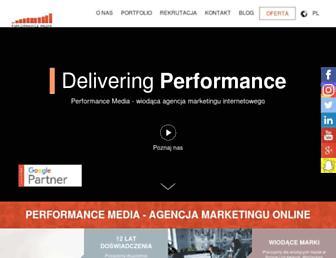 performancemedia.pl screenshot