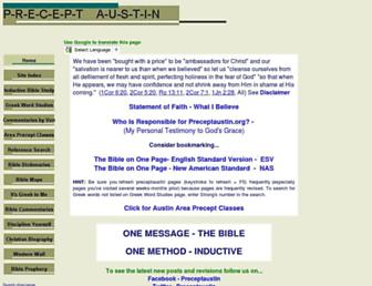 Main page screenshot of preceptaustin.org