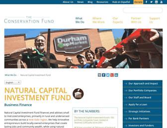 ncifund.org screenshot