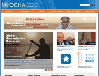 unocha.org screenshot