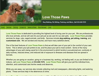 lovethosepaws.com screenshot