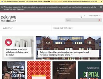 palgrave.com screenshot
