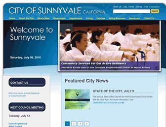 sunnyvale.ca.gov screenshot