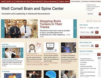 Main page screenshot of cornellneurosurgery.org