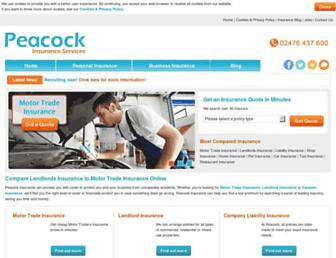 peacockinsurance.co.uk screenshot