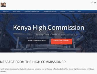 kenyahighcommission.ca screenshot