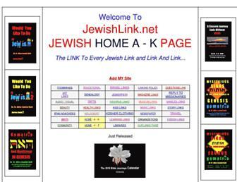 Main page screenshot of jewishlink.net
