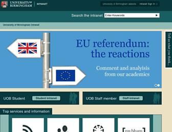intranet.birmingham.ac.uk screenshot