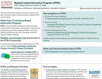 rtips.cancer.gov screenshot