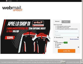 webmail.aruba.it screenshot