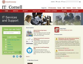 it.cornell.edu screenshot