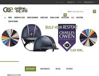 onlineforequine.co.uk screenshot