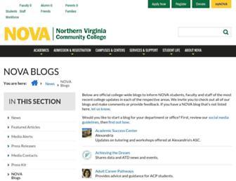 blogs.nvcc.edu screenshot
