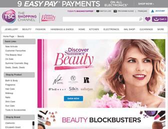 Main page screenshot of ebeauty.ca
