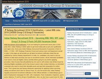 indianrailwayrecruitment.in screenshot