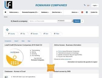 romanian-companies.eu screenshot