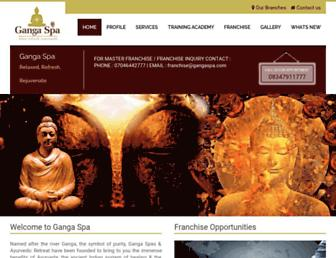 gangaspa.com screenshot