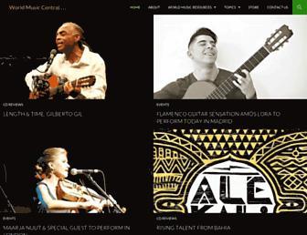 Main page screenshot of worldmusiccentral.org