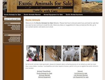 Thumbshot of Exoticanimalsforsale.net