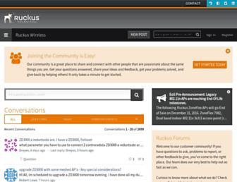 forums.ruckuswireless.com screenshot