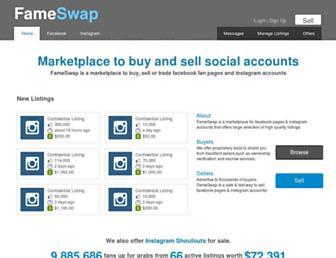 Thumbshot of Fameswap.com