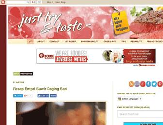 justtryandtaste.com screenshot