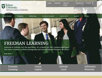 freeman.tulane.edu screenshot
