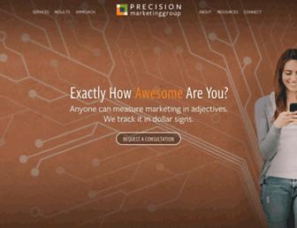 precisionmarketinggroup.com screenshot