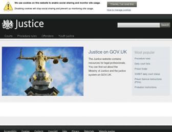 justice.gov.uk screenshot