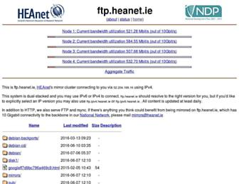 ftp.heanet.ie screenshot