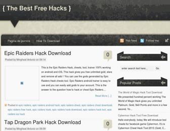 thebestfreehack.blogspot.com screenshot