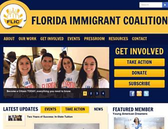 Main page screenshot of floridaimmigrant.org