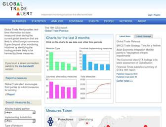 globaltradealert.org screenshot