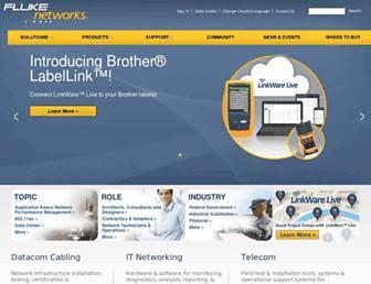 flukenetworks.com screenshot